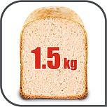 Nebo upečte až 1,5kg čerstvý chléb