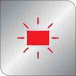 Červený indikátor pro použití v troubě a varné desce