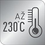 Teplota až 230°C